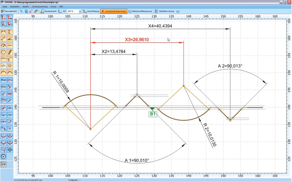 Evovis roughness and contour metrology software