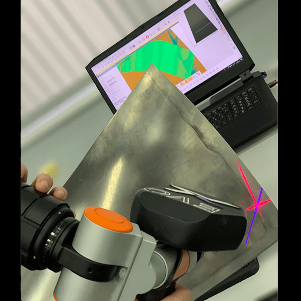 measuring arm laser scan