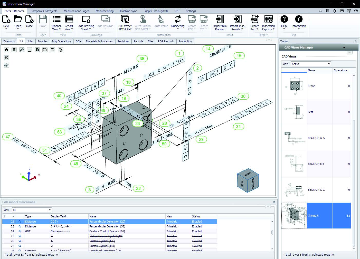 MBD Model Based Definition CAD to drawing