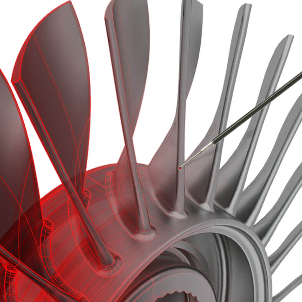 CMM probe fan blade
